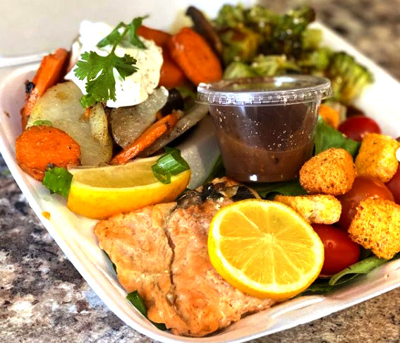 salmon and vegies only